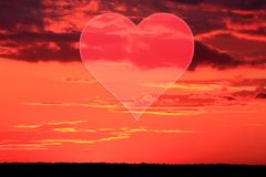 Placez les valentines fond, coeur, amour de Saint Valentin Photo stock