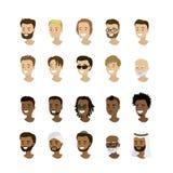 Placez les visages masculins, la nation différente et les courses Photographie stock