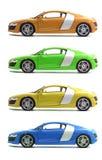 Placez les voitures Audi R8 Images libres de droits
