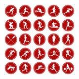 Placez les vrais athlètes d'icônes Photo libre de droits