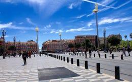 Placez Massena, Nice, France Photos libres de droits