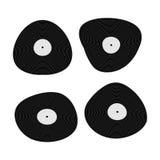 Placez plat de vinyle noir de musique le rétro Image stock