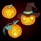 Placez pour des potirons de Halloween Image stock