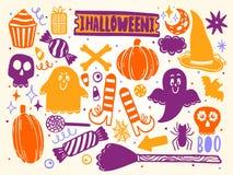 Placez pour Halloween pour la conception du paysage drôle D'isolement sur le fond blanc Élément coloré illustration libre de droits