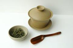 Placez pour la cérémonie de thé de porcelaine Photographie stock