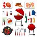Placez pour la partie de barbecue Image libre de droits