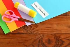 Placez pour le father& x27 de carte de voeux ; jour de s Father& heureux x27 ; jour de s Image stock