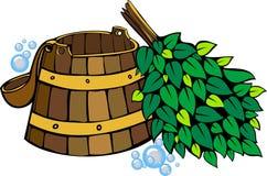 Placez pour le sauna Photographie stock