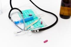 Placez pour le traitement de grippe - concept de santé et de médecine Photographie stock libre de droits