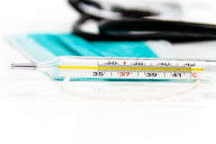 Placez pour le traitement de grippe - concept de santé et de médecine Photos libres de droits