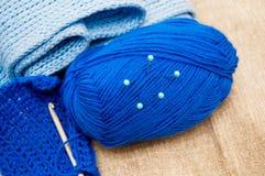 Placez pour le tricotage Photographie stock