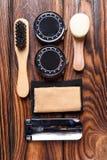 Placez pour les appareils-photo de nettoyage se composant de plusieurs objets Image libre de droits