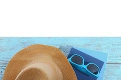 Placez pour lire à la plage Concept d'été images libres de droits