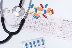 Placez sur un thème médical Photo stock
