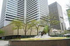 Placez Ville Marie (la fontaine) photo stock