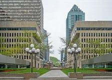 Placez Ville Marie Montreal (le belvédère) photos libres de droits