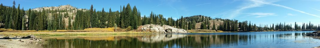 Placid Lake. Blue Lake in late summer Royalty Free Stock Photo