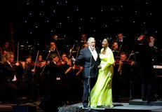 Placido Domingo & Angel Blue performs at Bahrain Stock Photography