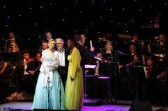 Placido Domingo, Micaela & Angel at Bahrain Royalty Free Stock Photo