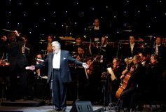 Placido Domingo performs at Bahrain Nov 29, 2012 Royalty Free Stock Photography