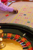 Placing a bet in roulette Royalty Free Stock Photography