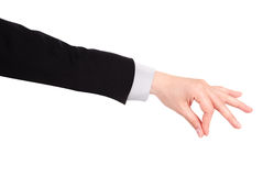 Placing or pinching hand sign Royalty Free Stock Photos