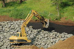 Placing RipRap Stock Image