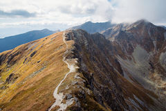 Placlive peak at Tatra mountains royalty free stock images