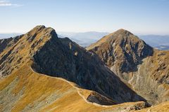 Placlive Spitze in WestTatras stockfoto