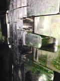 plactic инжекционный метод литья с зеленым тавотом Стоковое Изображение