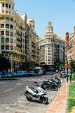 Placu Del Ayuntamiento Modernisme plac urząd miasta Walencja w Walencja Zdjęcia Stock