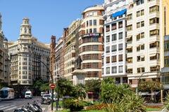 Placu Del Ayuntamiento Modernisme plac urząd miasta Walencja w Walencja Zdjęcie Royalty Free