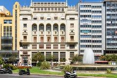 Placu Del Ayuntamiento Modernisme plac urząd miasta Walencja w Walencja Zdjęcie Stock