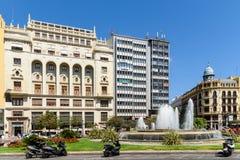 Placu Del Ayuntamiento Modernisme plac urząd miasta Walencja w Walencja Obrazy Royalty Free