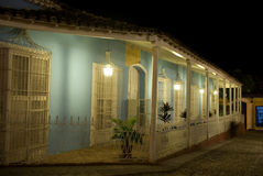 Placu Mayor nocą, Trinidad, Kuba Zdjęcia Stock