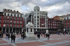 Placu Mayor Valladolid, Hiszpania fotografia royalty free