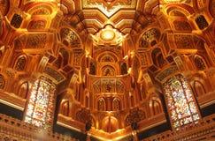 Plafond arabe de pièce dans le château de Cardiff Photographie stock
