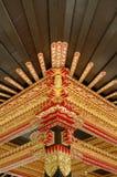 Plafond avec le bel ornement dans le palais du sultanat de Yogyakarta Photos libres de droits