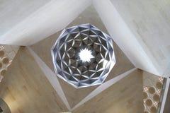 Plafond avec les configurations islamiques, musée du Qatar photographie stock libre de droits
