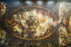 Plafond bij Geschilderde Zaal Royalty-vrije Stock Foto's