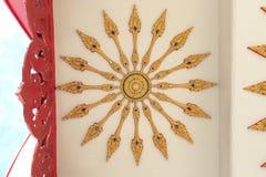 Plafond binnen de tempel Royalty-vrije Stock Foto's