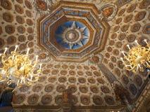 Plafond binnen Kensington Paleis, Londen Royalty-vrije Stock Foto