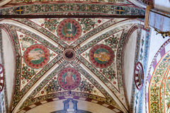 Plafond in chiesa Di Sant Anastasia in de stad van Verona Stock Afbeelding