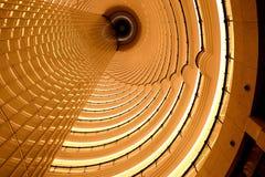 Plafond circulaire de tunnel en structure d'architecture d'h?tel contemporain Fond de luxe de conception int?rieure photo libre de droits