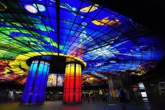 Plafond coloré de la station de métro à Kaohsiung Photo libre de droits