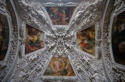 plafond décoratif image stock
