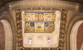 Plafond décoratif dans l'abbaye de Buckfast, Devon Photographie stock libre de droits