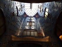 Plafond d'intérieur de Batllo de maison Photographie stock libre de droits