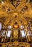Plafond d'or Santa Maria Maggiore Rome Italy de baptistère photos libres de droits
