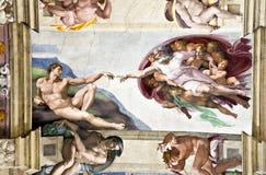 Plafond dans la chapelle de Sistine Image stock